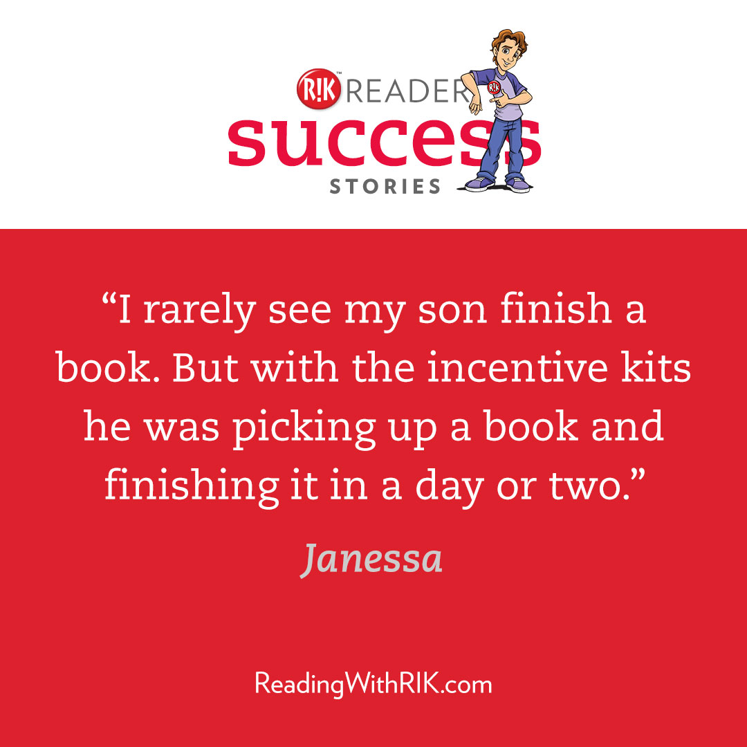 I rarely see my son finish a book. But with the incentive kits he was picking up a book and finishing it in a day or two.